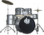 Ddrum D2 BS Complete 5 Piece Brushed Silver Color Drum Set with Chrome Oval Lugs