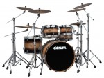 Ddrum DS A 22 5 BBRST DIOS Ash 22 Inch Black Burst Finish Complete 5-Pc Drum Kit