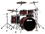Ddrum DS A 22 5 C CR DIOS Ash 22 In Cherry Red 5-Pc Drumset with DIOS Tube Lugs