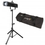 LED Followspot 75ST Multi Color Goob Stage Spot Chauvet Light with Tripod Stand & Travel Bag Combo