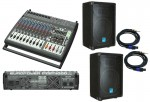 New Behringer PMP4000 Pro Audio DJ Active 1600 Watt 16CH Effects Mixer with $290 Speaker Pair & Cables