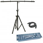 Obey 40 Chauvet Light 192 Channel DMX 512 Controller with DMX Cable & T-Bar Tripod Stand Combo