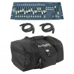 Obey 70 Chauvet Light Fixture DMX-512 Controller with (2) DMX Cables & Arriba Transport Bag Combo