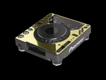 Odyssey AFPCDJ1000GOLD Gold Faceplate for Pioneer CDJ1000