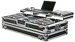 """Odyssey FZGSPBM12W Remixer Glide Style Series DJ Coffin for a 12"""" Mixer and 2 Turntables in Battle Mode"""
