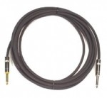 Peavey 10ft Silent Instrument Cable with Chrome Barrel & Gold-Plated Plug Finger