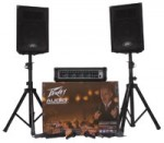 Peavey Audio Performer Pack PA System with Speaker Enclosures/Mics/Mixer/Stands