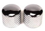 Peavey Chrome Dome Guitar Knobs Knurled Grip 2 Per Package