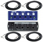 """Pro Audio PreSonus HP4 4CH Headphone Distribution Amplifier with (4) TRS 1/4"""" Cables Package"""