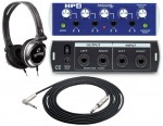 "Pro Audio PreSonus HP4 4CH Headphone Distribution Amplifier with TRS 1/4"" Cable & Headphones"