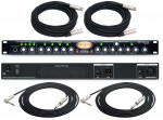 "Pro Audio PreSonus Studio Channel 1 Channel Strip / Compressor with (2) XLR & (2) TRS 1/4"" Cables"