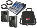 "Pro Audio PreSonus StudioLive 16.4.2 16CH Digital Recording Mixer with Powered 8"" Speakers, Soft Case & XLR Cables"