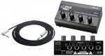 """Pro Audio Pyle DJ PHA40 Headphone Stereo 4 Channel Amplifier with 1/4"""" TRS Audio Cable"""