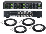 "Pro Audio Pyle DJ PHA80 Headphone Stereo 4 Channel Amplifier with (4) 1/4"" TRS Audio Cable"