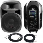 """Pro Audio Pyle DJ PPHP1299AI Powered 1000 Watt 2 Way MP3 Ipod 12"""" PA Speaker with XLR & 1/4"""" TRS Cable"""