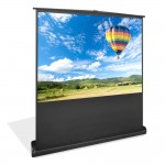 """Pyle-Home PRJSF1009 Matte White 100"""" Floor Stand Easy Roll-Up Projection Screen"""