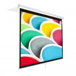 """Pyle-Home PRJSM1006 Universal 100"""" Roll Down/Up Projection Screen - Matte White"""