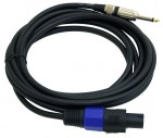 Pyle Pro Audio PPSJ15 15ft. 12 Gauge Professional Speaker Cable Compatible With Speakon Connector to 1/4'' Male