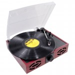Pyle Pro PVNT7U Retro Style Turntable with USB-to-PC & Built-in Full Range Speakers