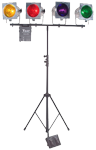 American DJ STAGE ACT 4 Lighting System Package with Tripod & Controller