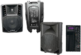 Pyle Pro Powered Portable PA Speakers