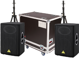15 Inch Speakers, Stands & Cases