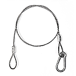 "24"" Zinc Plated Safety Cable -Up to 700lbs"