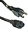 Accu Cable EC163-25 Power Extension Cable 16 Gauge 25Ft Black Cord